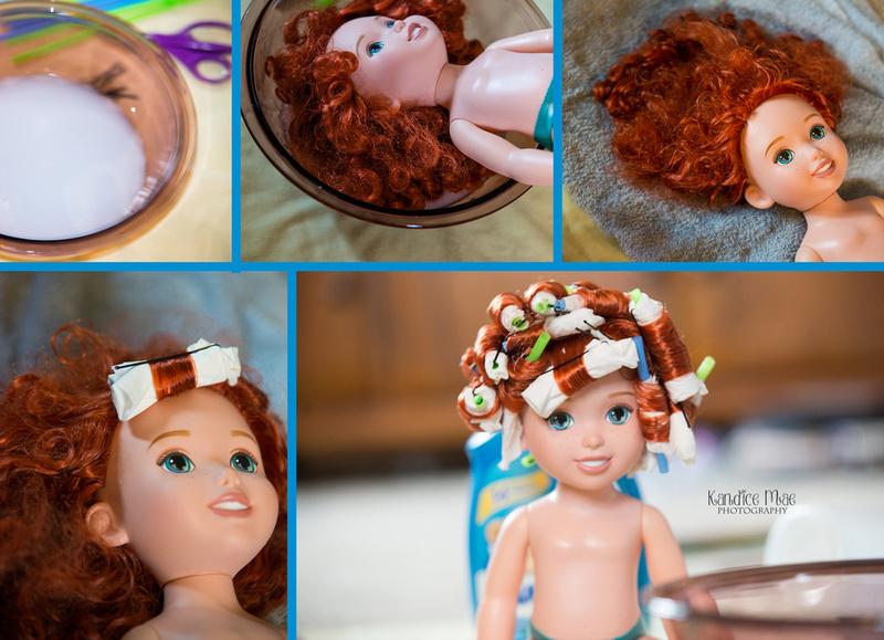 Kandice Mae Photography Fixing Disney Doll Hair Curly